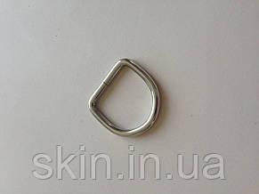 Полукольцо сварное, ширина 25 мм, толщина 3,5 мм, цвет - никель, артикул СК 5153, фото 2