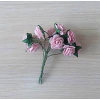Розы пастельно-розовые, 10шт, 1,5см