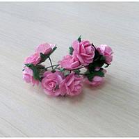 Розы розовые, 10шт, 1,5см