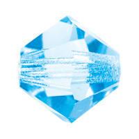 Хрустальные бусины Spacer Preciosa (Чехия)  4х6 мм, Aquamarine