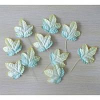 Листочки нежные желто-зеленые, 10шт, 4,5х5см