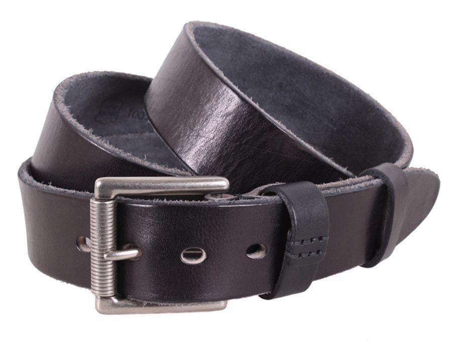 Стильний шкіряний чоловічий ремінь Buffalo BUFF000-12 ДхШ: 130х4 см чорний