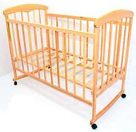 Кроватка деревянная детская Наталка №16 светлый ясень