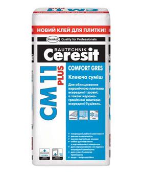Церезит (Ceresit) CM 11 Plus Клеящая смесь «Comfort Gres», 25 кг