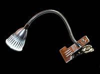 LED настольная лампа с прищепкой 3W 6500K Lemanso LMN078