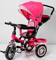 Трехколесный велосипед-коляска TR 16001 розовый ПОВОРОТНОЕ СИДЕНЬЕ