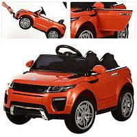 Детский электромобиль M 3213EBLR-7, мягкие колеса и кожаное сиденье