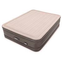 Надувная велюр-кровать 64770 Intex со встроенным насосом 152-203-46 см