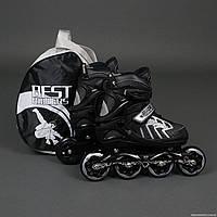 "Ролики 9015 ""M"" Gray - Best Rollers /размер 35-38/ (6) колёса PU, без света, d=8.4см"