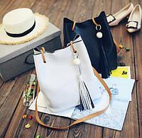 Комплект большая сумка мешок и клатч, набор 2в1. Отличный аксессуар. Хорошее качество. Доступно. Код: КГ1414