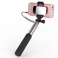 Сэлфи монопод с зеркалом ROCK (кабель Lightning) для Apple iPhone, фото 1