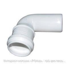 Отвод (колено) 32х87,5º ПП Европласт с раструбом и уплотнительным кольцом для внутренней канализации белый