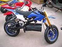 Детский кроссовый электрический мотоцикл HL-D50B 500W 36V синий