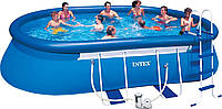 Наливной-каркасный бассейн Intex Oval Frame Pool