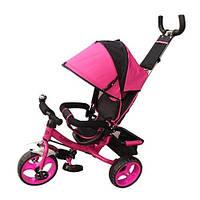 Трехколесный детский велосипед TURBO TRIKE M 3113-6 розовый колеса EVA