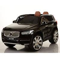 Детский электромобиль джип Volvo M 3278 EBLR-2 черный, кожаное сиденье и мягкие колеса