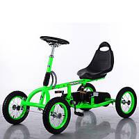 Педальная машина Карт M 1697-5-2 Formula зелено-черный