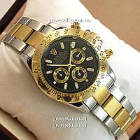 Часы Rolex Daytona Men Silver-Gold-Black