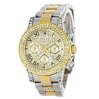Часы Rolex Cosmograph Daytona Women Crystal Silver-Gold