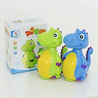 Динозавр ZY 6606 А (48/2) 2 цвета, свет, музыка, на батарейке, в коробке