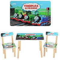 Детский столик со стульчиками 501-27 Паровозики