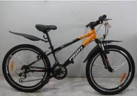 Подростковый спортивный велосипед 24д PROFI XM242D оранжево-черный