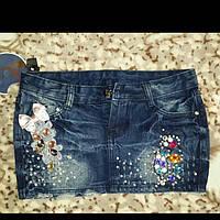 Юбка женская джинсовая мини