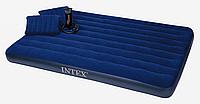 Двухспальный надувной матрас INTEX 68765 с набором 152*203*22 см