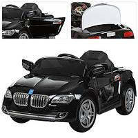 Детский электромобиль BMW M 3152 EBRS-2 черный, мягкие колеса и автопокраска
