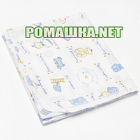 Детская ситцевая (ситец) пеленка 120х75 см для пеленания, тонкая, однотонная 3425 Голубой А