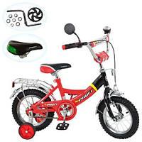 Велосипед PROFI детский 12д. P 1246A красно-черный, каретка