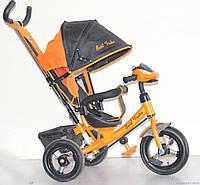 Велосипед 3-х колёсный Best Trike 6588 B (1) ОРАНЖЕВЫЙ, НАДУВНЫЕ КОЛЕСА, С ФАРОЙ