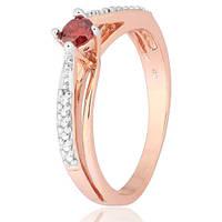 Позолоченное серебряное кольцо с красным фианитом Балет 000028202 17 размера