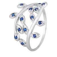 Серебряное кольцо с синими фианитами Лавр 000028163 20 размера