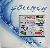 Набор металлических ножей с керамическим покрытием Sollner TW 3460, фото 1