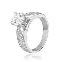Кольцо из серебра с фианитами Мисс Безупречность 000028067 17.5 размера