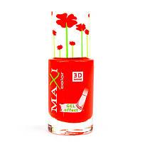 Лак для ногтей с эффектом геля Maxi Color Hot Summer 14 Оранжевый