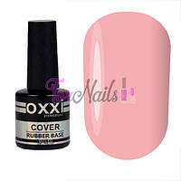 OXXI Cover Rubber Base №06 - камуфлирующая база для гель-лака (фиолетово - розовая), 8 мл