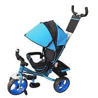 Трехколесный детский велосипед TURBO TRIKE M 3113-5 голубой колеса EVA