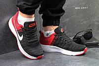 Мужские кроссовки NIKE, сетка, черные с красным / беговые кроссовки мужские НАЙК, стильные