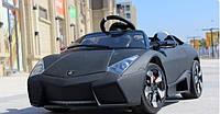 Детский электромобиль с мягкими колесами Lamborghini Reventon M 2770 EBRS-2 черный(матовый) в автопокраске