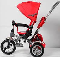 Детский трехколесный велосипед-коляска TR16005 Красный ПОВОРОТНОЕ СИДЕНЬЕ