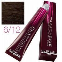 L'Oreal Professionnel краска для волос DIArichesse 6.12 Темный блондин пепельно-перламутровый