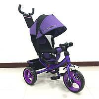 Трехколесный детский велосипед TURBO TRIKE M 3113-8 фиолетовый, колеса EVA