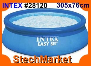 Бассейн надувной 28120 Intex 305x76, 3853л