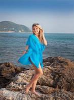 Шифоновый пляжный халат (туника) короткий
