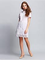 Платье приталенного силуэта (отрезное по линии талии) выполнено из хлопковой ткани, р. 48 код 2953М