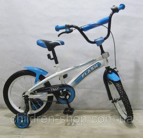 Детский Велосипед TILLY FLASH 16 д. T-21642 blue - Интернет магазин детских товаров children-shop в Днепре
