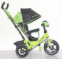 Велосипед 3-х колёсный Best Trike 6588 B (1) САЛАТОВЫЙ, НАДУВНЫЕ КОЛЕСА, С ФАРОЙ