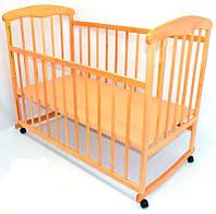 Кроватка деревянная детская светлая Наталка светлая ольха